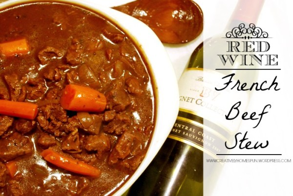Red Wine French Beef Stew #autumn #fallrecipe #dinner #beef #delicious