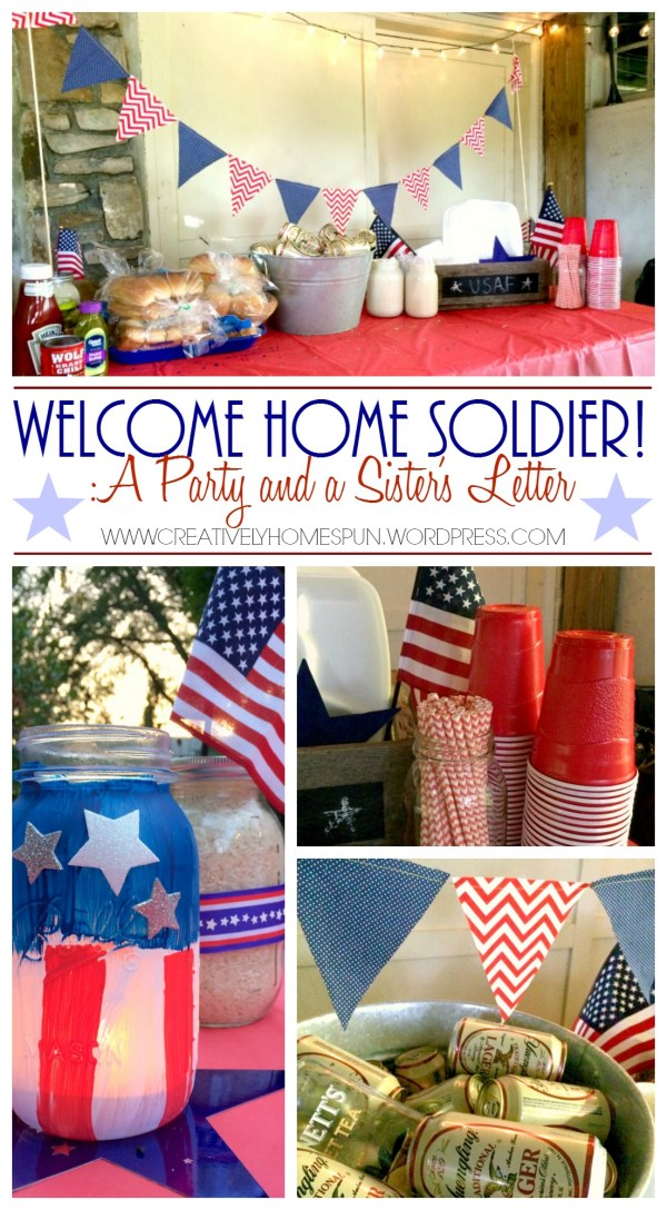 Welcome Home Soldier Party! #militarylife #homeonleave #america #july4th #homeoftheFREEbecauseoftheBRAVE