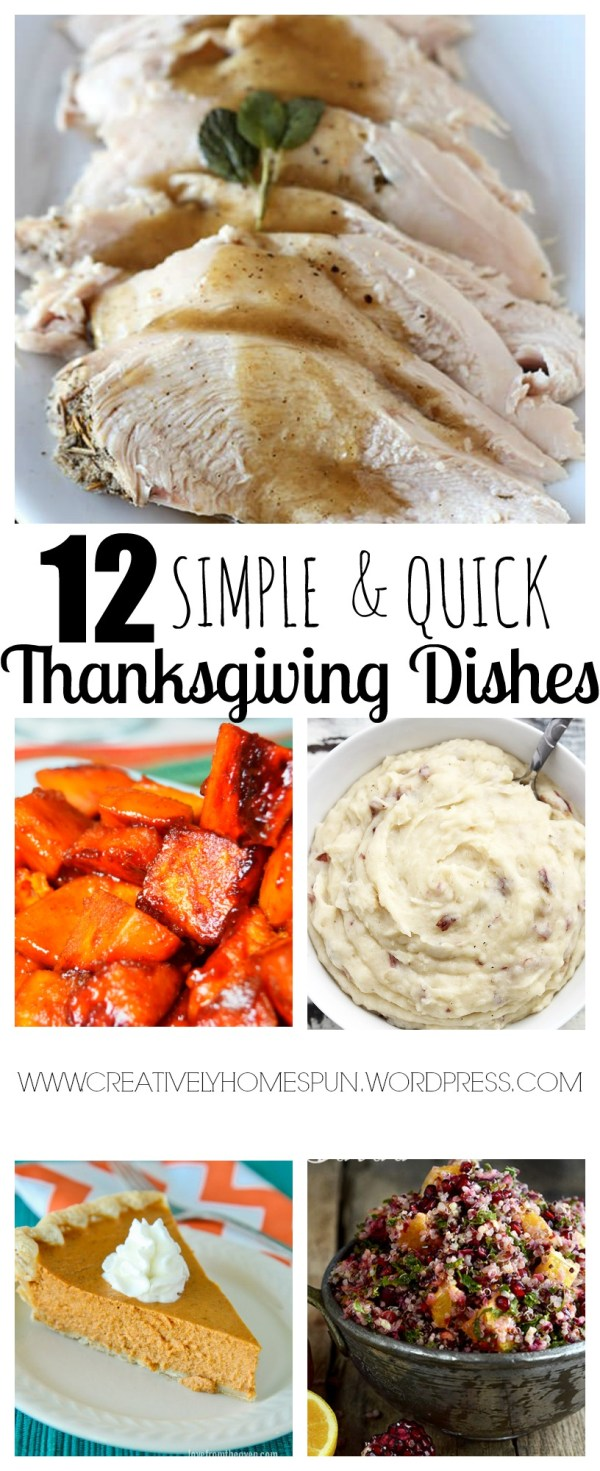 12 SIMPLE AND QUICK THANKSGIVING DISHES #thanksgiving #quickrecipe #easymeals #dinner #holiday