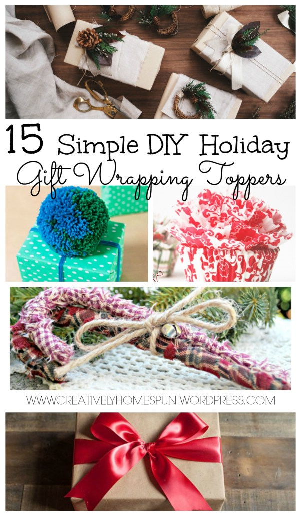 15 Simple DIY Holiday Gift Wrapping Toppers