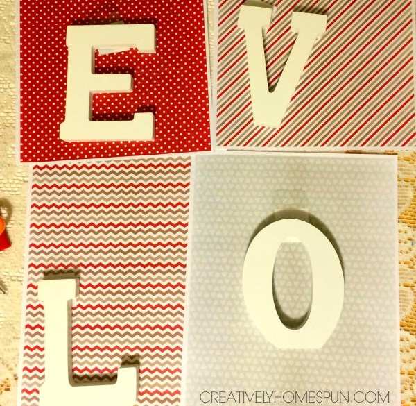 DIY Valentine Love Decor: #CreateandShareChallenge # GraphicStock #DIYdecor #ValentinesDayDecor #LOVE