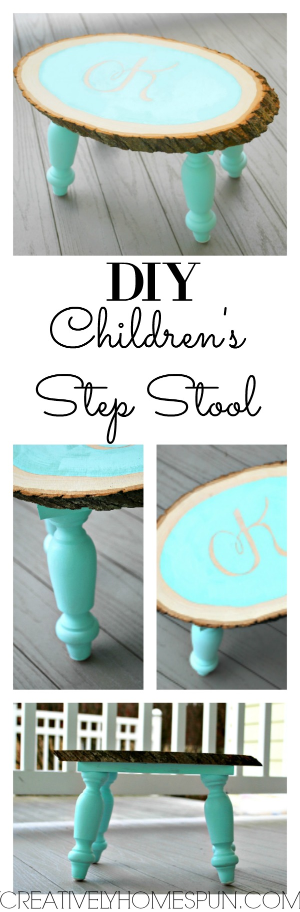 DIY Children's Step Stool #Createandsharechallenge #DIYdecor #walnuthollow