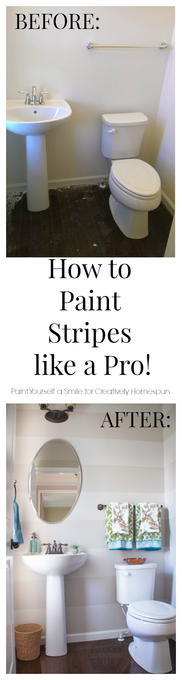 how to paint stripes pinterest
