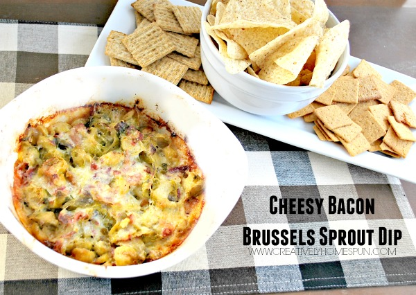 Cheesy Bacon Brussels Sprout Dip