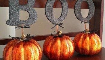 glitter blast spray paint pumpkins - Glitter Halloween Decorations