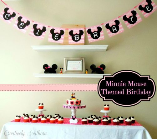 minnie mouse themed birthday