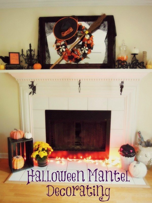 halloween decorating ideas - Halloween Mantel Decor