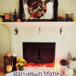 Halloween Mantel Decorating {And A Free Printable!}
