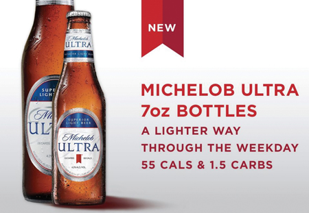 Michelob ULTRA Introduces Light Beer In 7 Oz. Bottles