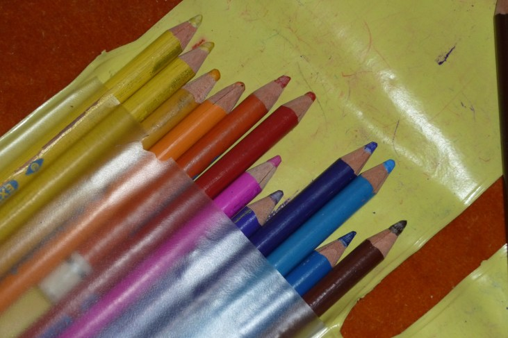 25 years OLD colored pencils - these are the pencils I used when I was a child. YES! I still have them! ;) @ http://creativemag.ro by Cristina Parus