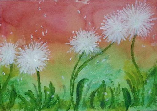Dandelions flower (papadii) by Cristina Parus Art @ CreativeMAG.ro