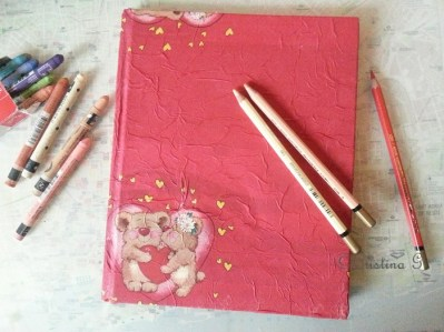 Art journal-book cover makeover - Art journal by Cristina Parus