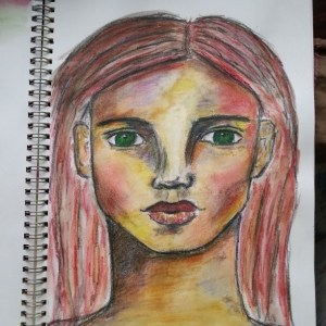 Derwent Inktense Pencil sketch by Cristina Parus @ creativemag.ro