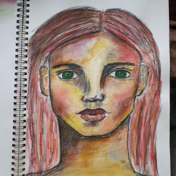 Derwent Inktense Pencil sketch by Cristina Parus @ creativemag.ro