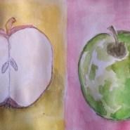 Watercolor apples by Cristina Parus @ creativemag.ro