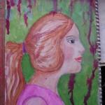 Profil pictat pe un servetel