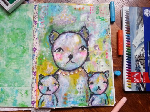 whimsical bears family by Cristina Parus @ creativemag.ro