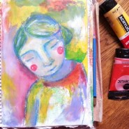 painting like a child by Cristina Parus @ creativemag.ro
