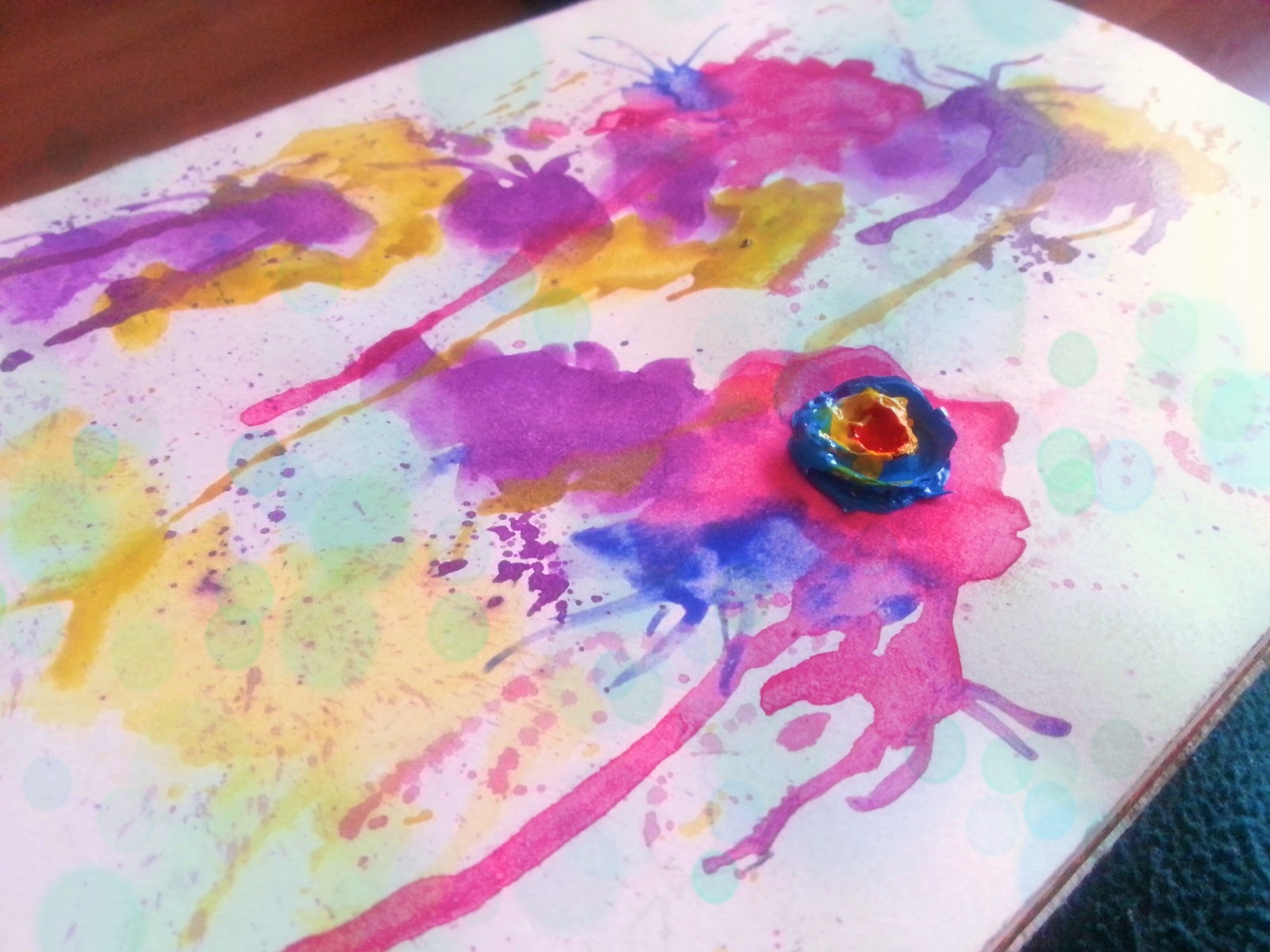 watercolor jurnal cover by Cristina Parus @ creativemag.ro
