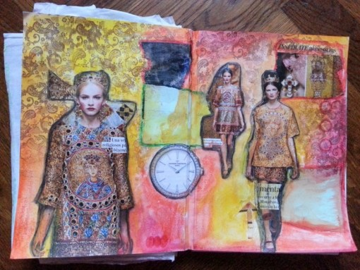 Collage art journal page by Cristina Parus @ creativemag.ro