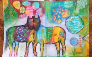 Two horses - Your painting mojo - by Cristina Parus @ creativemag.ro