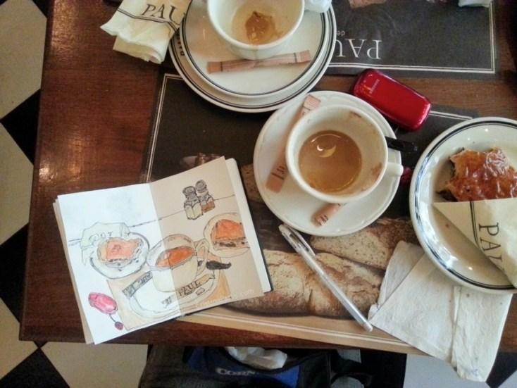 Pen and Watercolor Sketch by Cristina Parus @ creativemag.ro