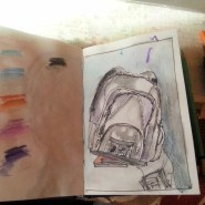 One sketch a day - backpack - by Cristina Parus
