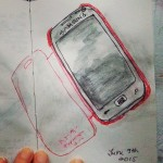 One sketch a day – my cell phone