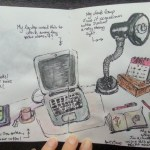 One sketch a day – what's on my desk