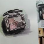 One sketch a day – Watercolor eye shadows