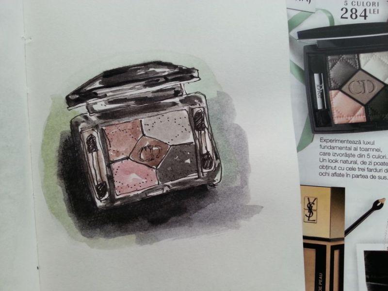 One sketch a day - Watercolor eye shadows