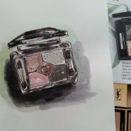 One sketch a day - Watercolor eye shadows