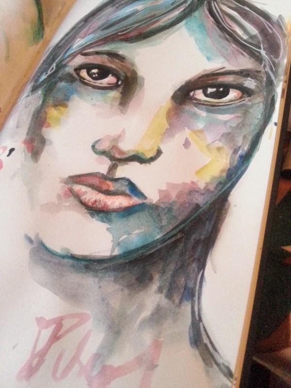 Watercolor splashes by Cristina Parus @ creativemag.ro