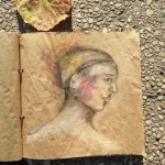Watercolor Woman Portrait on wrapping paper