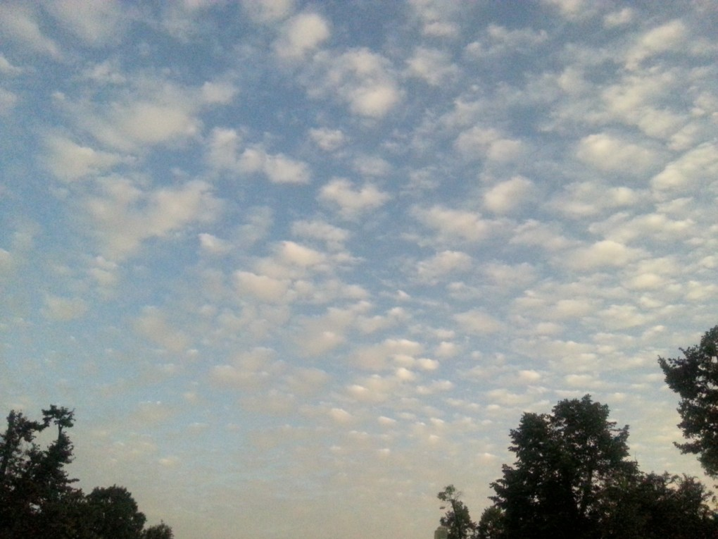 blue sky with fluffy clouds by Cristina Parus @ creativemag.ro