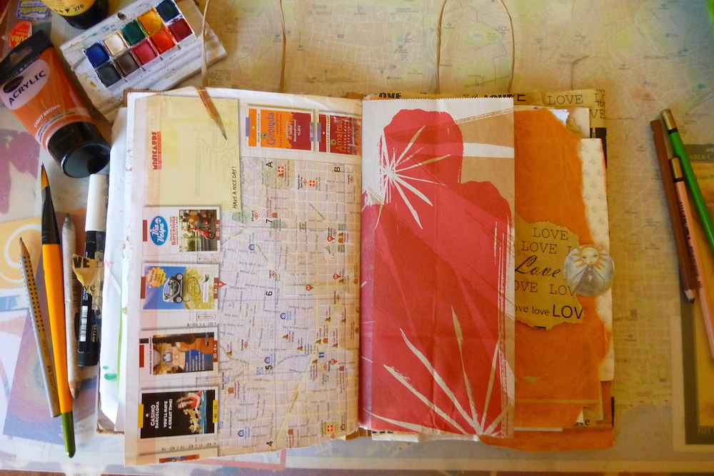 Random pages in my junk journal - by Cristina Parus @ creativemag.ro
