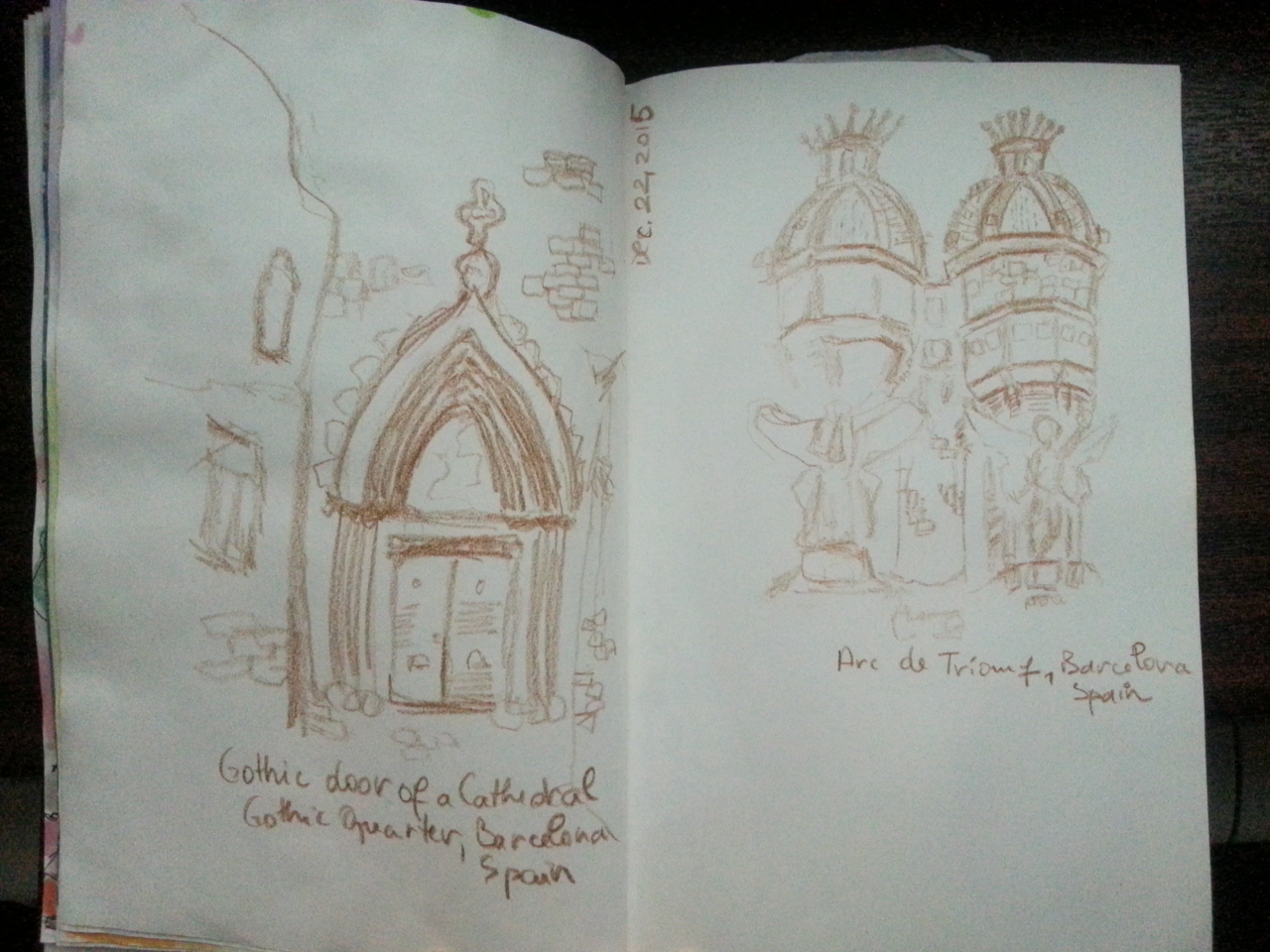 Barcelona Building Sketching by Cristina Parus @ creativemag.ro