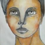 Charcoal Acrylics Mixed Media Portrait