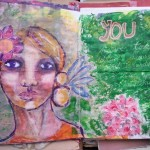 The junk journal project – leaflet painting over