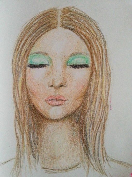 Portrait in colored pencils - by Cristina Parus @ creativemag.ro