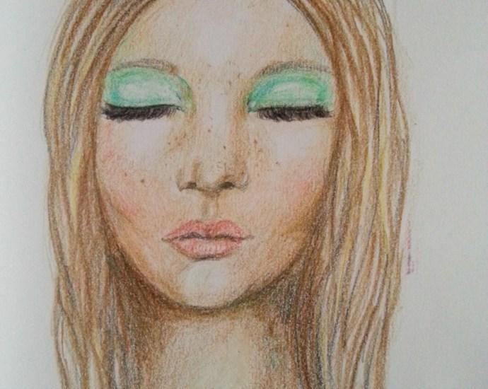 Portrait in colored pencils - by Cristina Parus @ creativemag.ro