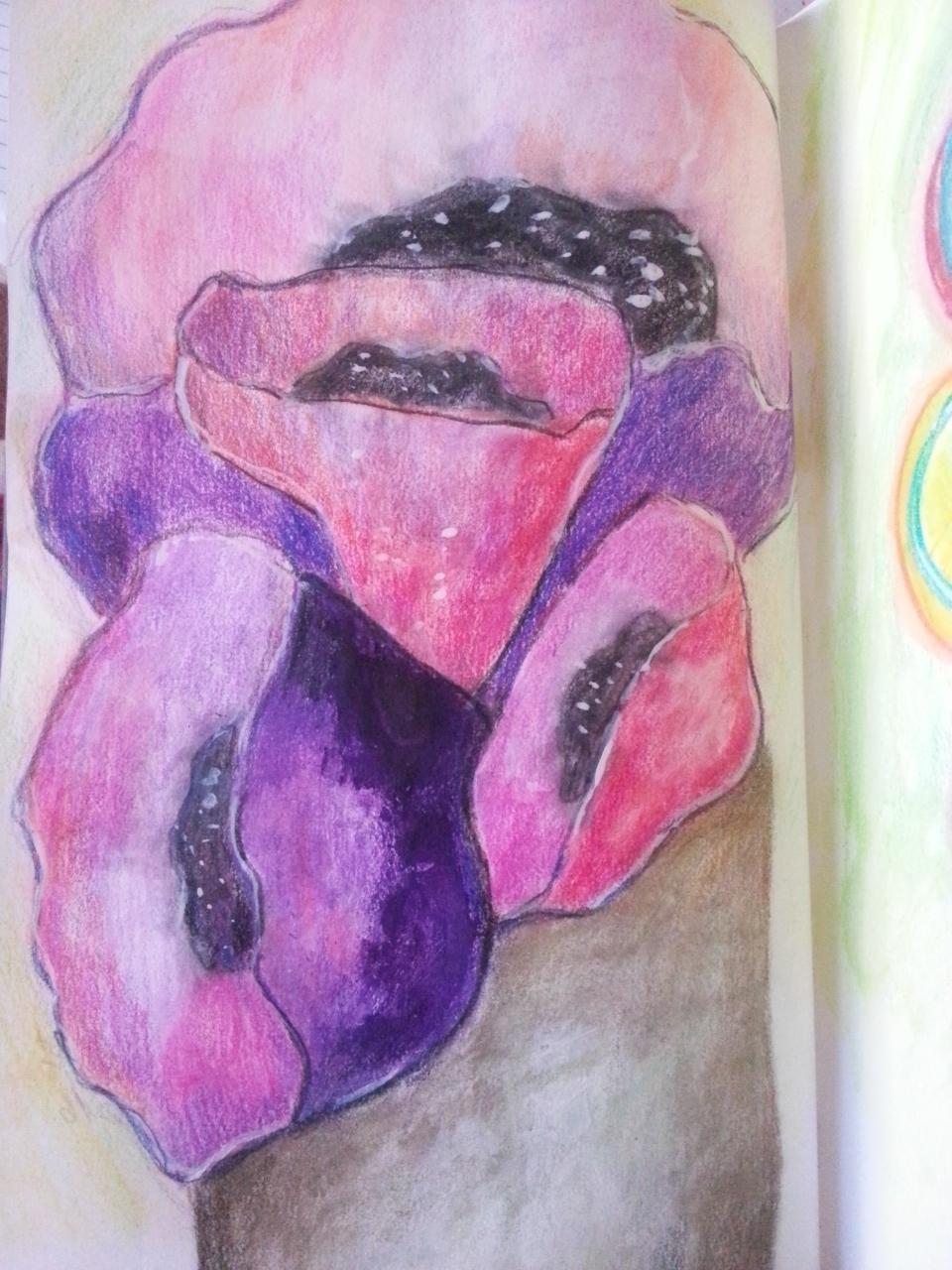 Mixed Media Poppies by Cristina Parus @ creativemag.ro