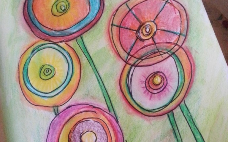 Joyful Abstract Flowers by Cristina Parus @ creativemag.ro