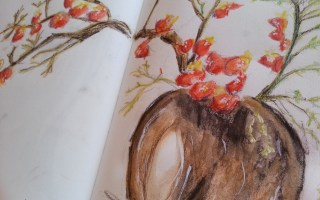 Japanese Quince and Baby's Breath Spinea by Cristina Parus @ creativemag.ro