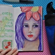 Purple hair - quoted pages by Cristina Parus @ creativemag.ro
