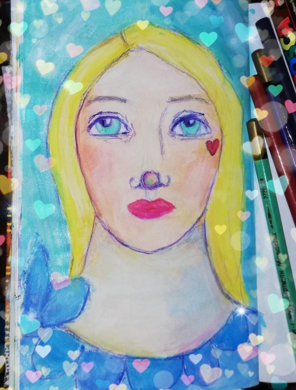 Art journal pages by Cristina Parus @creativemag.ro