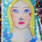 20 minutes art journaling – blue sky