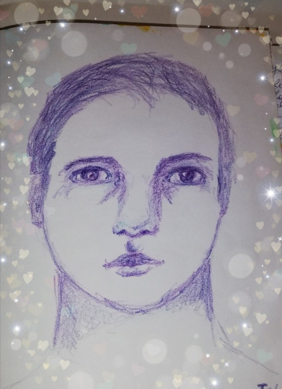 Sketch a face in your journal by Cristina Parus @ creativemag.ro