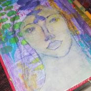 whimsical face sketch @ creativemag.ro