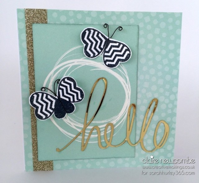 Using papers from Sarah's latest scrapbook kit